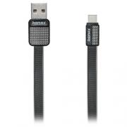 Кабель передачи данных Remax Type-C - USB RC-044a Platinum cable black