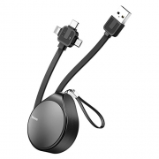 Кабель Baseus Waterdrop three-in-one scaling 3in1 USB - microUSB/USB Type-C/Lightning (CAMLT) 1.5 м
