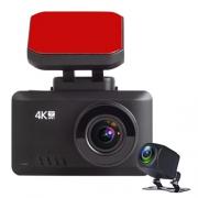 Видеорегистратор TrendVision 4K, 2 камеры, GPS, черный