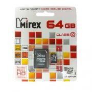 Mirex microSDXCClass10 UHS-IU164GB+SDadapter