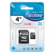 SmartBuy microSDHC Class 10 4GB + SD adapter