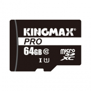 Карта памяти Kingmax microSDXC PRO Class 10 UHS-I U1 64GB + SD adapter