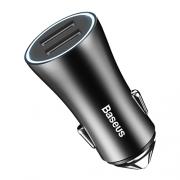Автомобильное зарядное устройство Baseus 2 USB 2.4A black
