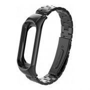 Ремешок для Mi Band 3 Stainless Steel metal black