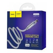 Кабель магнитный Hoco U40A Magnetic Adsorption Charging Cable Lightning 1м