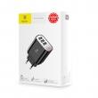 Сетевой блок питания Baseus Mirror Travel Charger 3 USB 3.4А