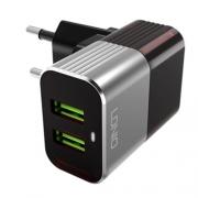 Зарядное устройство Ldnio 2 USB 2.4A + micro кабель (A2206)