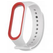 Ремешок для Xiaomi Mi Band 3 white/red