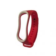 Ремешок для Xiaomi Mi Band 3 red/white