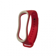 Ремешок для Xiaomi Mi Band 3 red/white