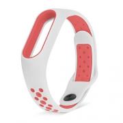 Ремешок для Xiaomi Mi Band 3/4 Nike бело-красный