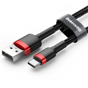 Кабель Baseus Cafule USB Tupe-C red+black 2m