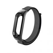 Ремешок для Xiaomi Mi Band 3 нейлон на липучке black