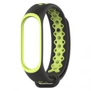 Ремешок для Xiaomi Mi Band 3/4 Nike черно-зеленый
