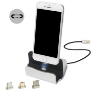 Док-станция Magnetic Charger & Sync Dock for iOS/Android silver
