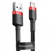 Кабель Baseus Cafule Cable USB - Lightning red+black 2m