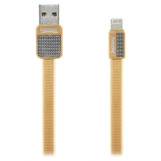 Кабель для iPhone Remax Lightning to USB RC044i Platinum cable 1.0м gold