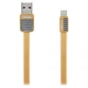 Кабель для iPhone Remax Lightning to USB RC044i Platinum cable 1.0м gold