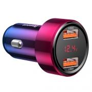 Автомобильное зарядное устройство Baseus magic series dual USB 45W red