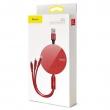 Кабель Baseus Fabric 3-in-1 Flexible red