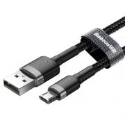 Кабель Baseus Cafule USB - microUSB black 2m