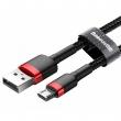 Кабель Baseus Cafule USB - microUSB red+black 1m