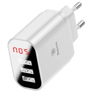 Сетевой блок питания Baseus Mirror Travel Charger 3 USB 3.4А white