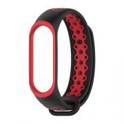 Ремешок для Xiaomi Mi Band 3/4 Nike черно-красный