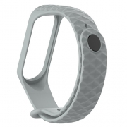 Ремешок для Xiaomi mi Band 3 рифленый gray