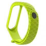 Ремешок для Xiaomi mi Band 3 рифленый lime green
