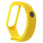 Ремешок для Xiaomi mi Band 3 рифленый yellow