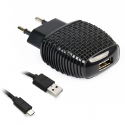 Сетевое зарядное устройство SmartBuy Nova MKII 2A 1xUSB + кабель Type-C Black