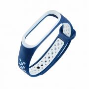Ремешок для Xiaomi Mi Band 3/4 Nike сине-белый