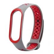 Ремешок для Xiaomi Mi Band 3 Nike серо-красный