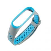 Ремешок для Xiaomi Mi Band 3 Nike серо-синий